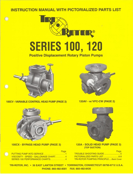 Tri-Rotor Series 100 and Series 120 Instruction Manual